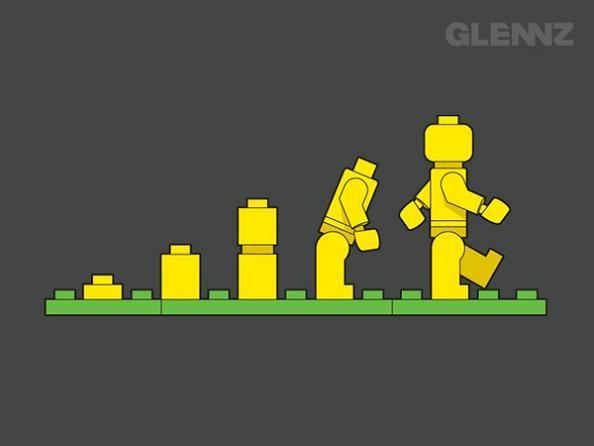 evolution of lego man 25 Hilarious Illustrations by Glennz