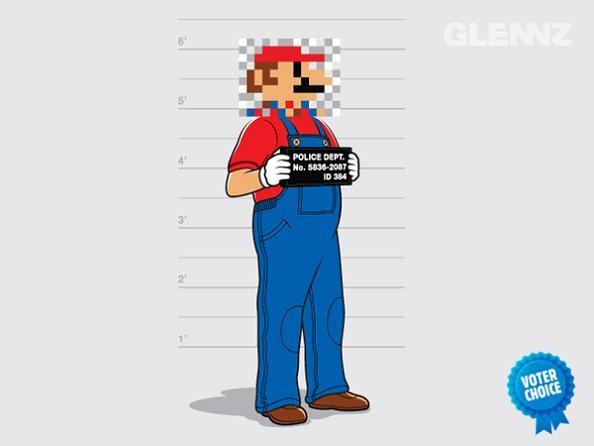 mario face blurred out 25 Hilarious Illustrations by Glennz