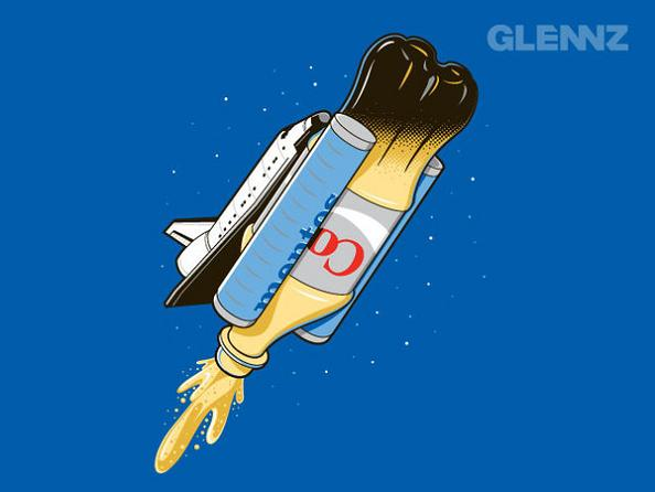 mentos and coke rocket 25 Hilarious Illustrations by Glennz