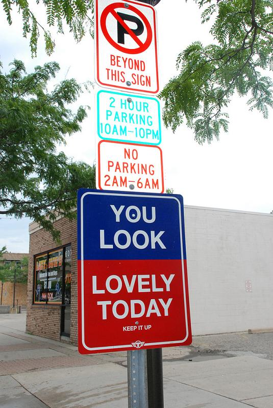 positive affirmation street sign Signs of the Times by Trusto Corp