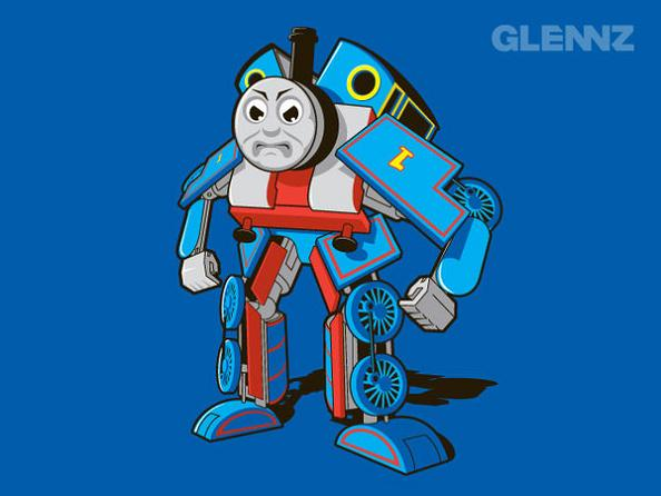 transformer thomas the train 25 Hilarious Illustrations by Glennz