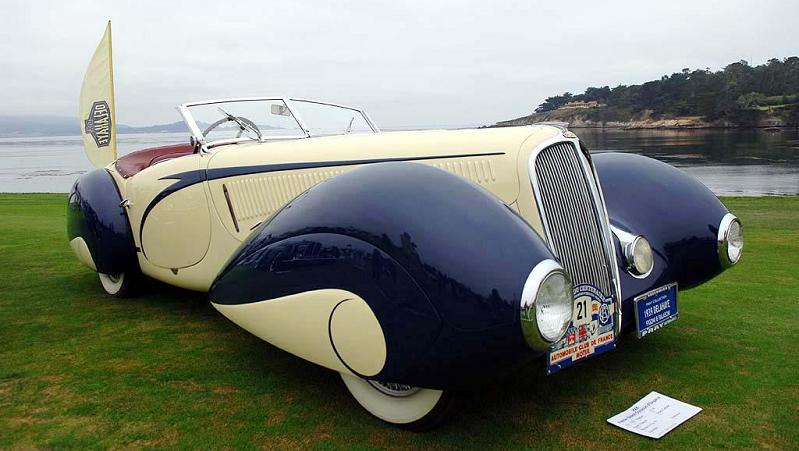 1937 delahaye 135m fignoi torpedo cabrio art deco vintage Incredible Gallery of Art Deco Vehicles
