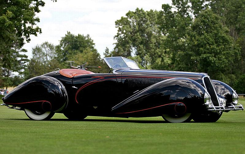 1938 delahaye 135 ms torpedo roadster 1938 Incredible Gallery of Art Deco Vehicles