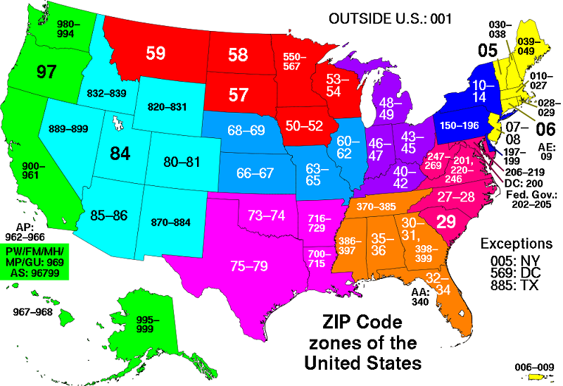 all zip codes in the united states - Garden Center Near Me