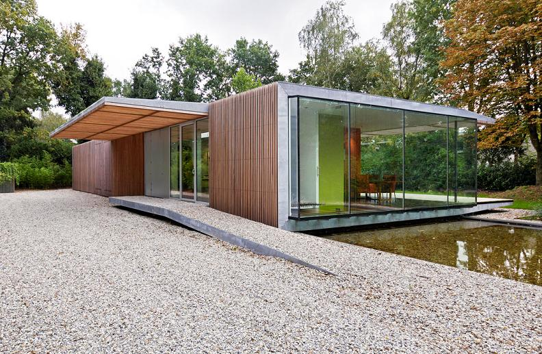 A Beautiful Bungalow Built Atop A Pond