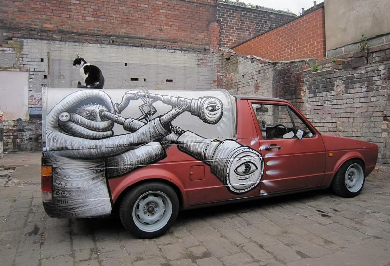 designs by phlegm Incredible Street Art Illustrations by Phlegm