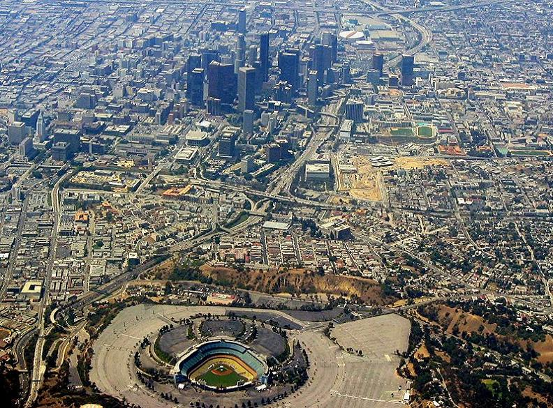 dodger stadium aerial of los angeles 5 Buildings So Big They Have Their Own ZIP Code!