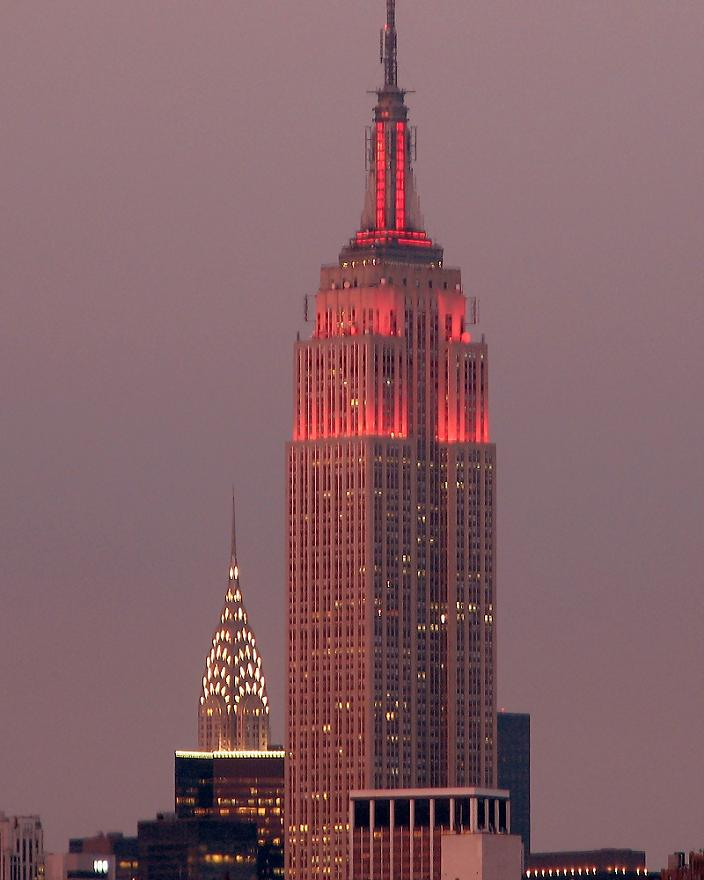 empire state building at night 5 Buildings So Big They Have Their Own ZIP Code!