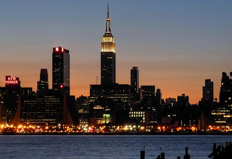 empire state building from nj 5 Buildings So Big They Have Their Own ZIP Code!