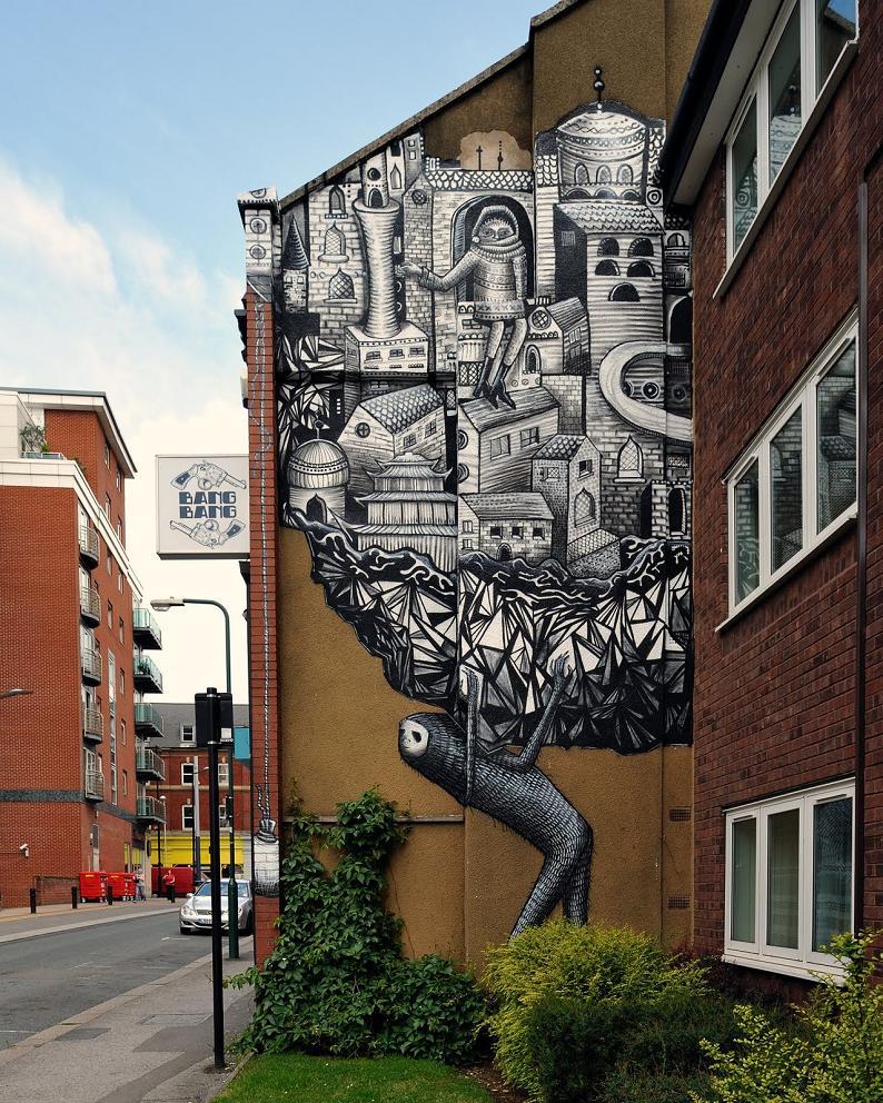 graffiti by phlegm Incredible Street Art Illustrations by Phlegm