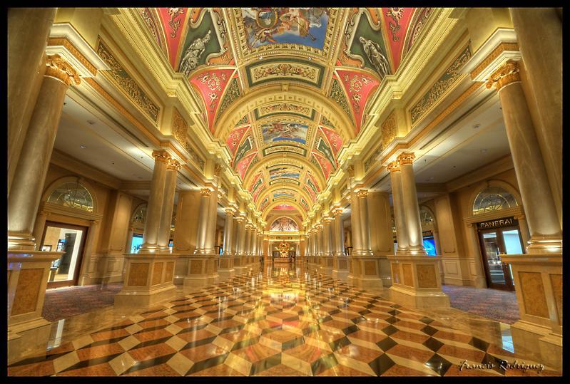 hallway like sistine chapel at venetian The Worlds Largest Casino   Venetian Macao