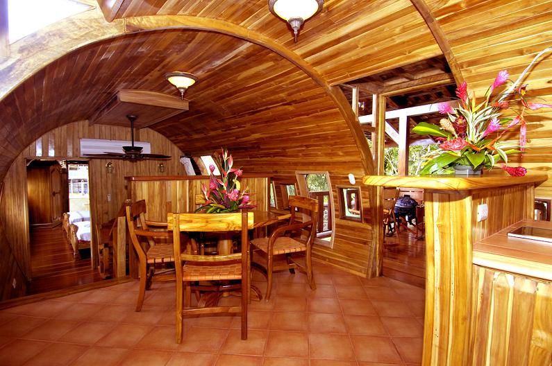 inside of an airplane home 1965 Boeing 727 Converted into a Costa Rican Hotel