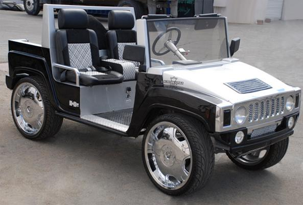 luxury hummer golf cart custom Top 10 Customized Luxury Golf Carts