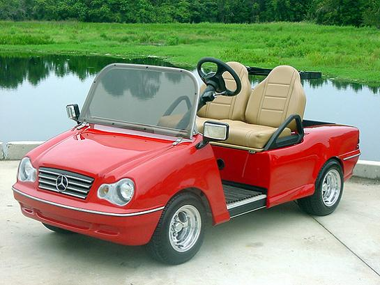 Top 10 customized luxury golf carts twistedsifter for How much is the mercedes benz golf cart