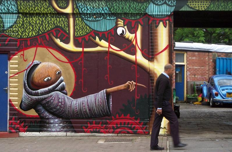 phlegm artwork Unbelievable Street Art Murals by El Mac