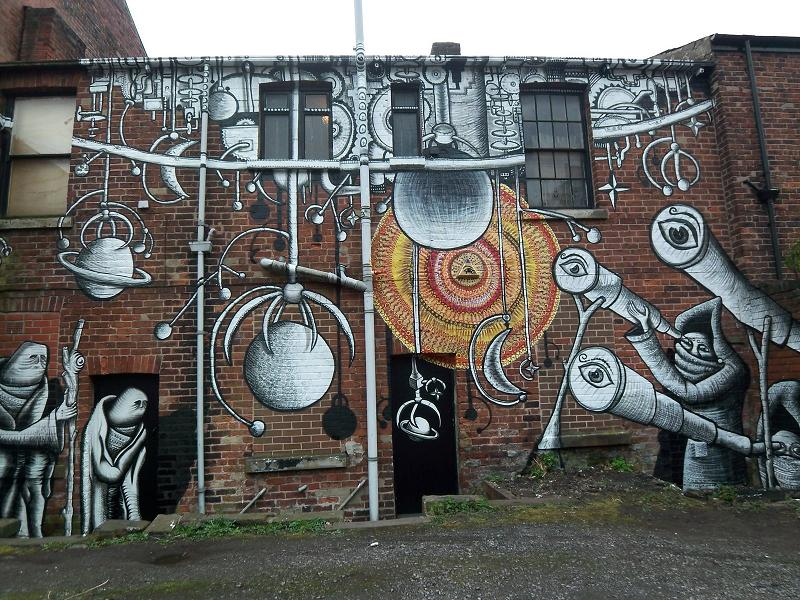 phlegm mural Incredible Street Art Illustrations by Phlegm