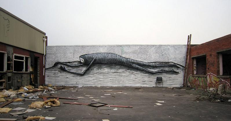 phlegm Incredible Street Art Illustrations by Phlegm