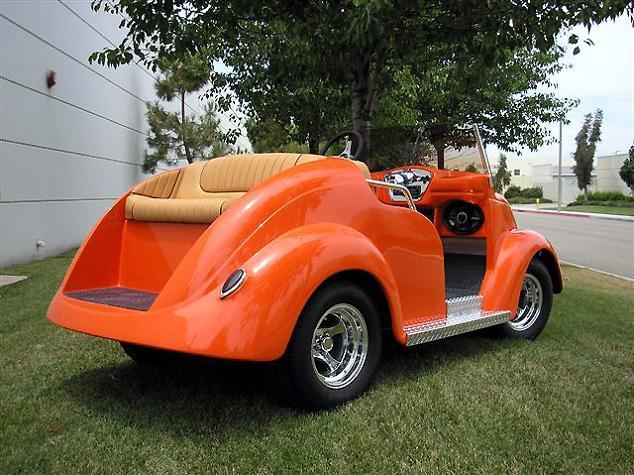 roadster luxury golf cart orange Top 10 Customized Luxury Golf Carts