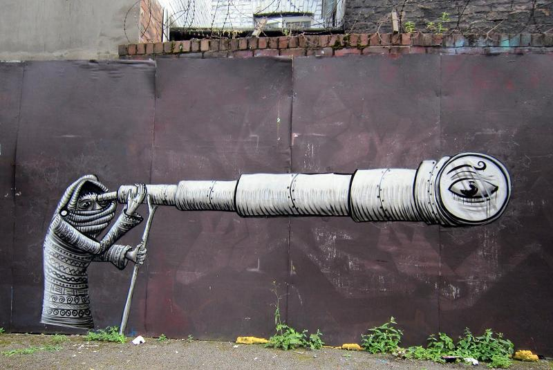 spray paint phlegm Incredible Street Art Illustrations by Phlegm