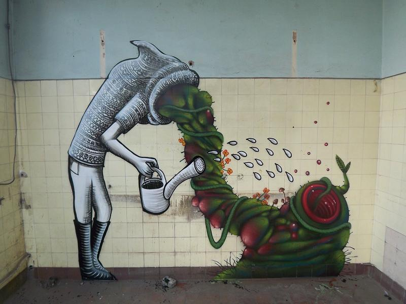 street artist phlegm Incredible Street Art Illustrations by Phlegm