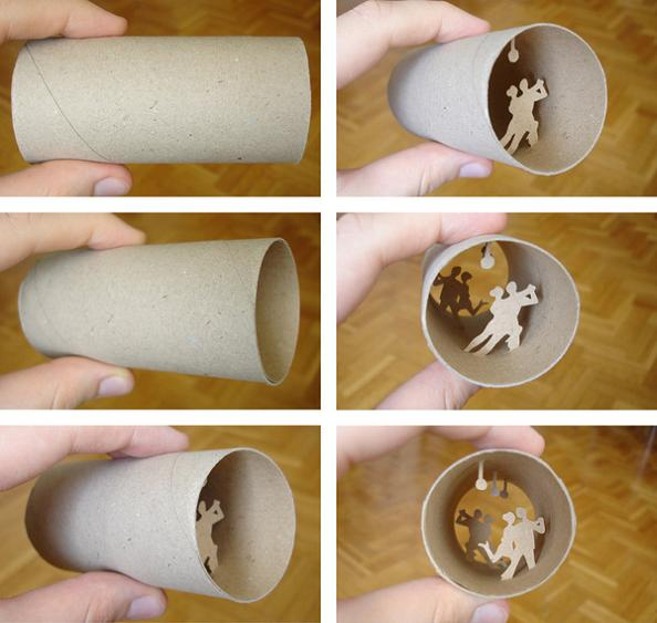 10 empty roll art Beautiful Miniature Paper Art Scenes [30 pics]