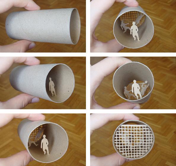 16 mini cardboard art Beautiful Miniature Paper Art Scenes [30 pics]