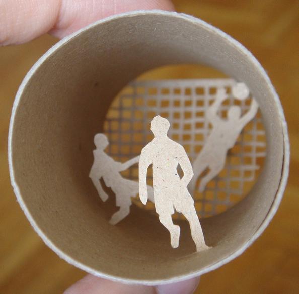 17 miniature paper art Beautiful Miniature Paper Art Scenes [30 pics]