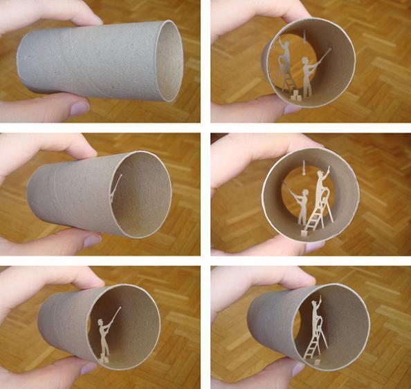 19 anastassia elias Beautiful Miniature Paper Art Scenes [30 pics]
