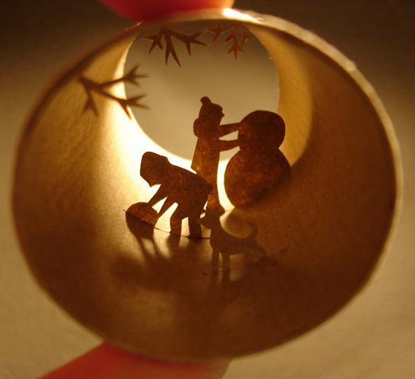 24 mini scenes inside a cylinder Beautiful Miniature Paper Art Scenes [30 pics]