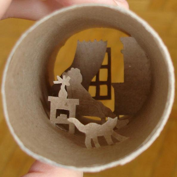 26 paper cuts art Beautiful Miniature Paper Art Scenes [30 pics]
