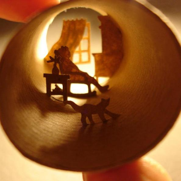27 paper cuts series behance Beautiful Miniature Paper Art Scenes [30 pics]