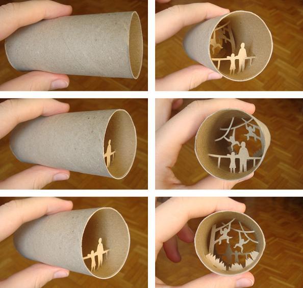 28 paper cuts art Beautiful Miniature Paper Art Scenes [30 pics]