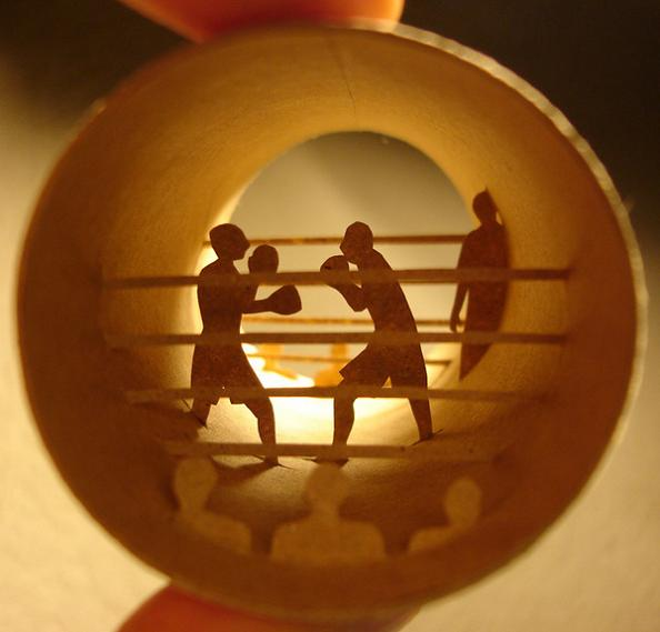 6 toilet roll art Beautiful Miniature Paper Art Scenes [30 pics]