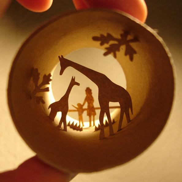 9 cylinder art Beautiful Miniature Paper Art Scenes [30 pics]