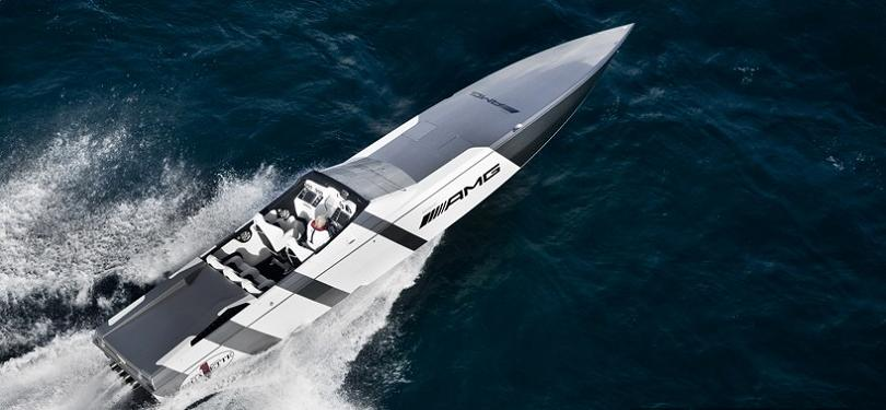 amg speed boat $1.2 Million 1,350 HP Mercedes Benz SLS AMG Cigarette Boat