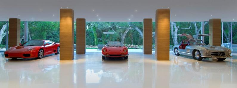 art gallery showroom for cars private Mr. Hermanns Opus: The Glass Pavilion in Montecito, California