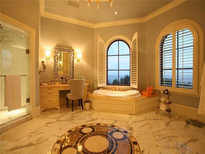 big huge en suite bathroom The $60 Million Mansion on the Ocean: Castillo Caribe, Cayman Islands