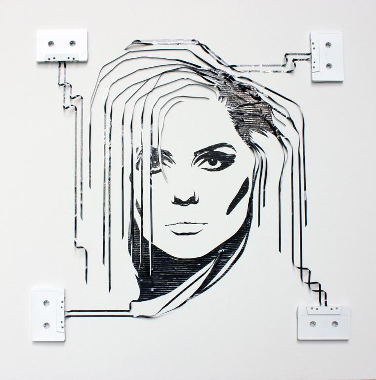 blondie iri5 erika iris simmons Unbelievable Tape Art by Erika Iris Simmons [15 Pics]