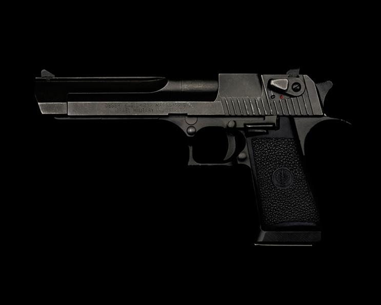 desert eagle on black background guido mocafico Guns and Roses by Guido Mocafico