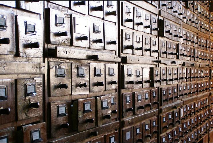 dewy decimal system little drawers in library 15 Incredible Libraries Around the World
