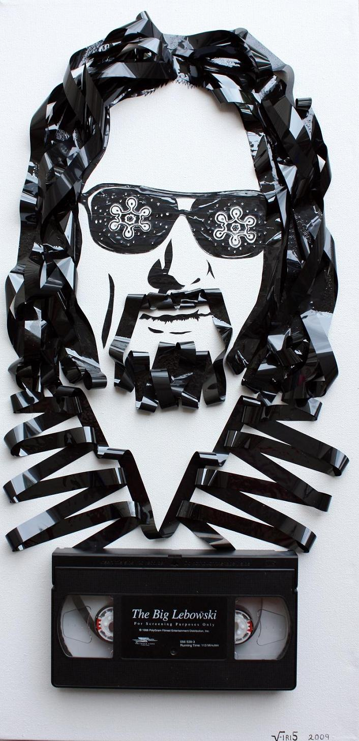 dude abides lebowski tape art Unbelievable Tape Art by Erika Iris Simmons [15 Pics]