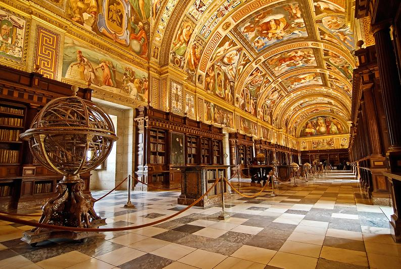 el escorial library madrid spain 15 Incredible Libraries Around the World