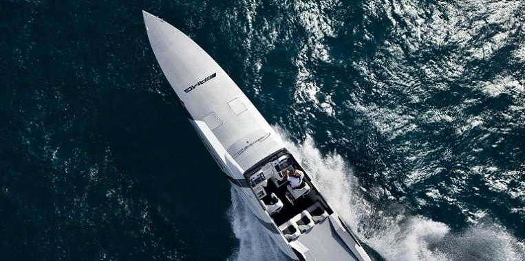fasted speed boat ever $1.2 Million 1,350 HP Mercedes Benz SLS AMG Cigarette Boat