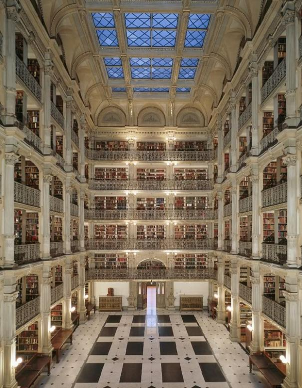 george peabody library baltimore maryland 15 Incredible Libraries Around the World