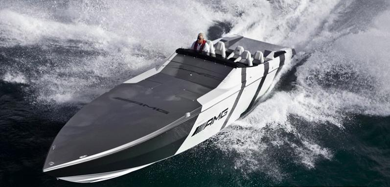 go fast boat mercedes benz sls amg $1.2 Million 1,350 HP Mercedes Benz SLS AMG Cigarette Boat