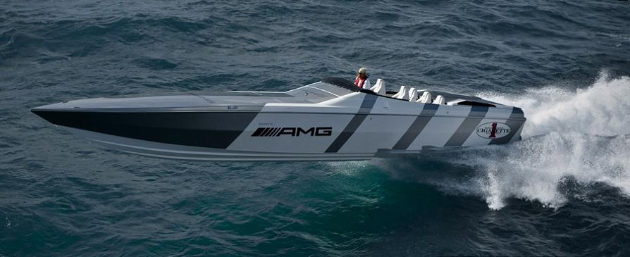 go fast boat $1.2 Million 1,350 HP Mercedes Benz SLS AMG Cigarette Boat