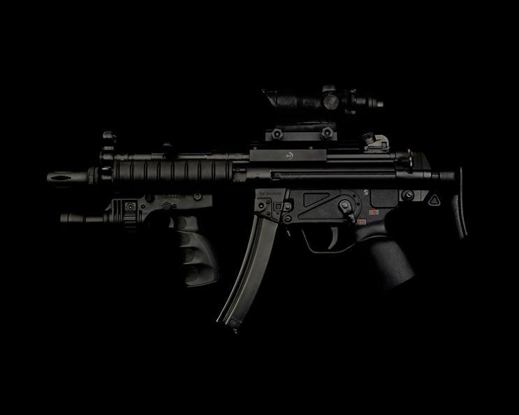 hk mp5 a3 gun on black guido mocafico Guns and Roses by Guido Mocafico