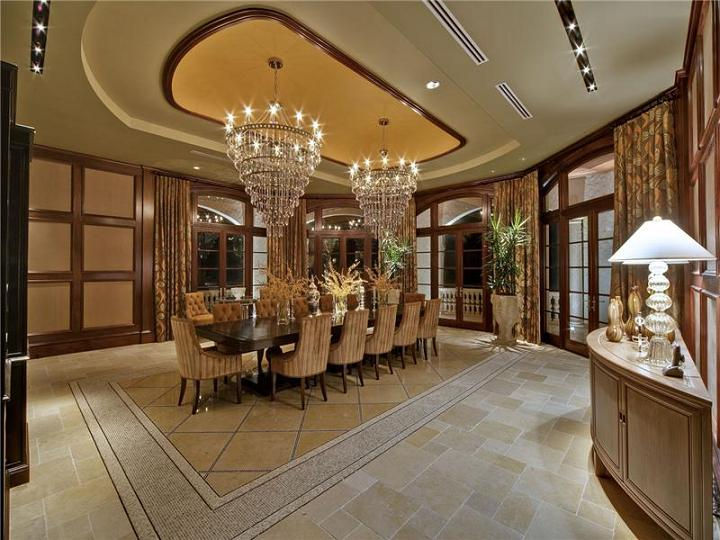 large dining room The $60 Million Mansion on the Ocean: Castillo Caribe, Cayman Islands