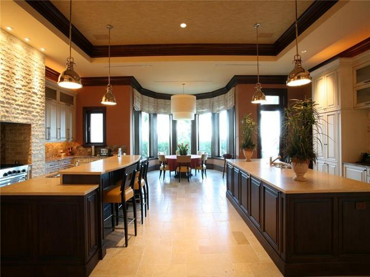 large kitchen The $60 Million Mansion on the Ocean: Castillo Caribe, Cayman Islands