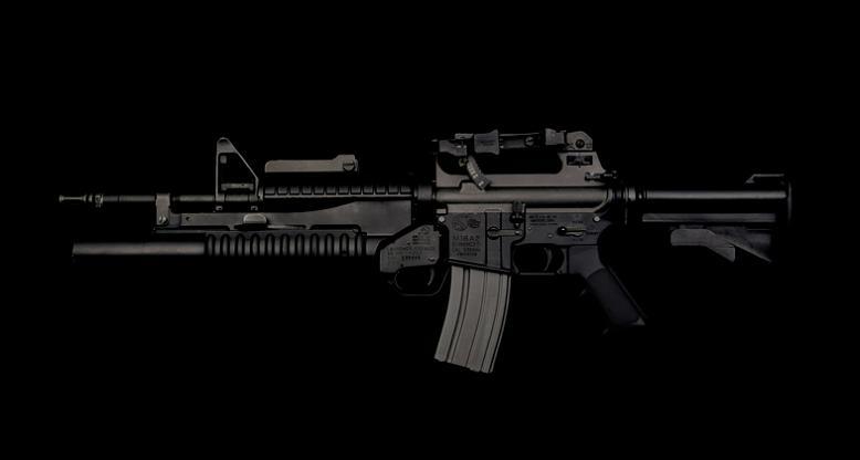m4 gun on black call of duty guido mocafico Guns and Roses by Guido Mocafico